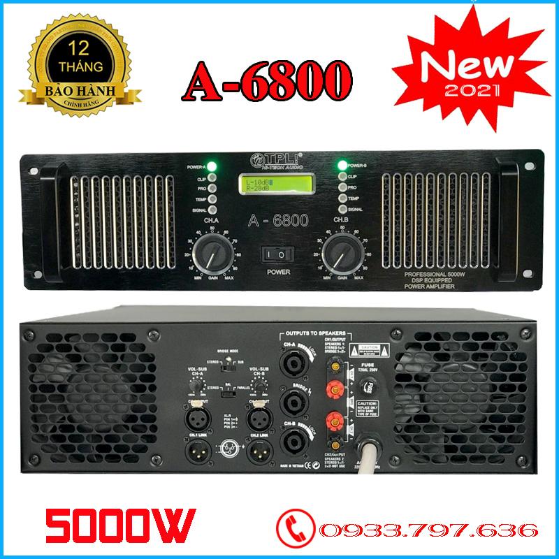 Amply Cục Đẩy TPL A6800 5000W 60 Sò Thông Minh