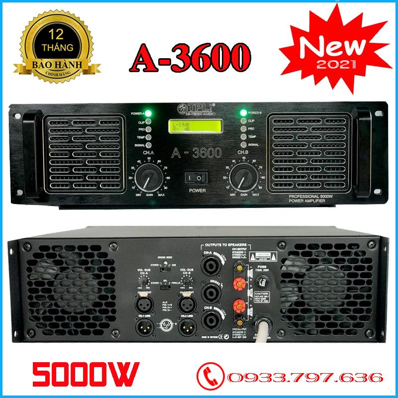 Cục Đẩy Amply TPL A3600 5000W 4 Kênh