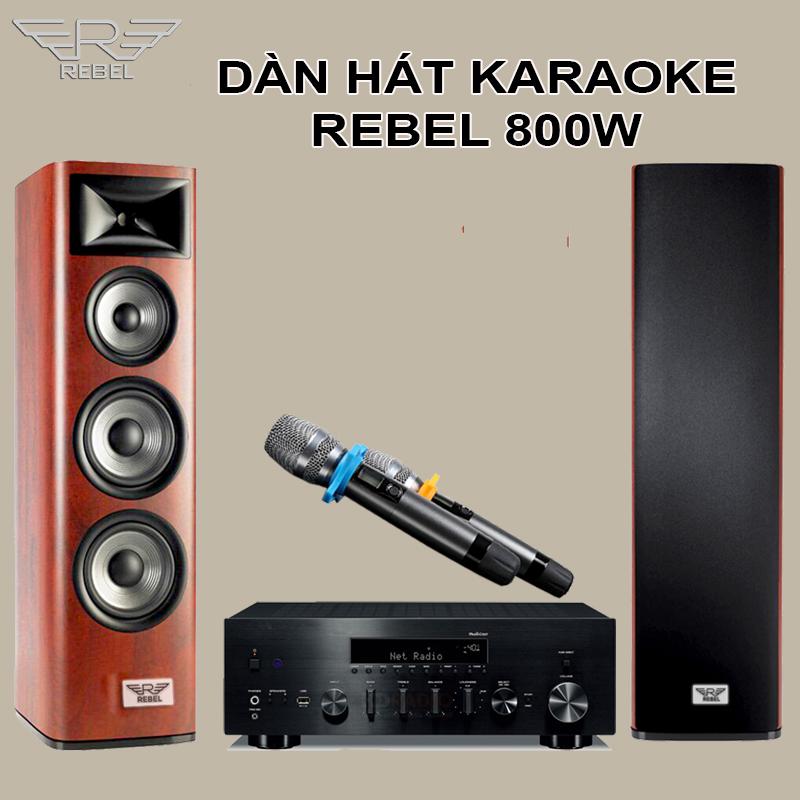 Dàn hát karaoke gia đình Rebel KR800W Công nghệ 6 trong 1