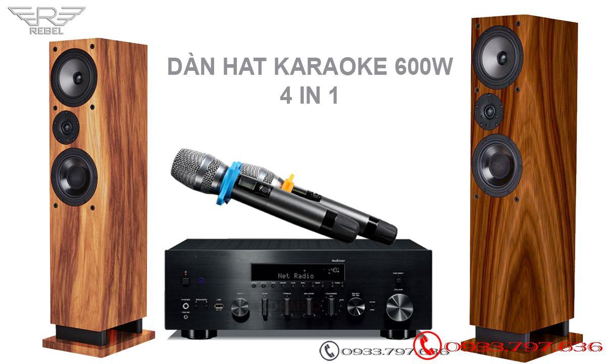 Dàn Hát Karaoke Rebel cao cấp công suất mạnh