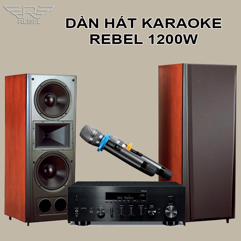 Dàn Hát Karaoke Rebel KR1200W Công Nghệ Số ST 4.0
