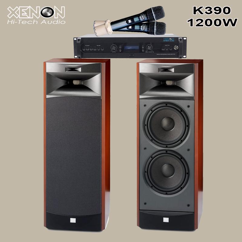Dàn Karaoke K390 800W Hiện Đại, Đa Chức Năng, 7 Trong 1