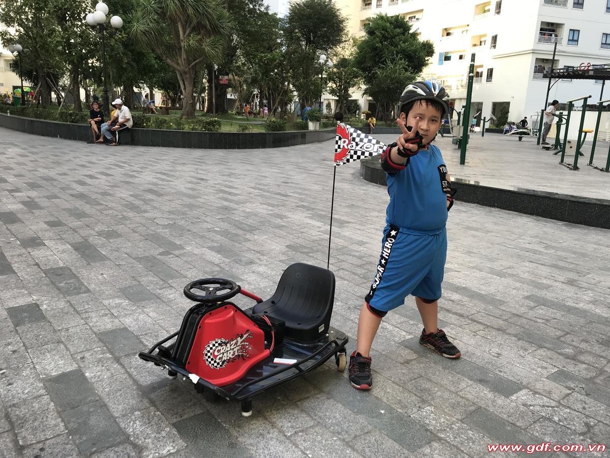 xe điện crazy cart shift xe drift cho trẻ em Viet NAm